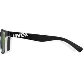 UVEX LGL 39 Glasses, black matt white/mirror red